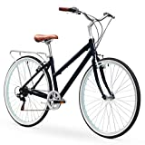 sixthreezero Explore Your Range Women's 7-Speed Hybrid Commuter Bicycle, Navy, 17' Frame/700x38c...