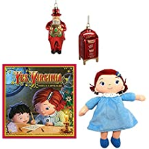 Macy's Yes Virginia 4-Piece Christmas Gift Set Pack: Book, Doll, 2012 Santa & Mailbox Ornament