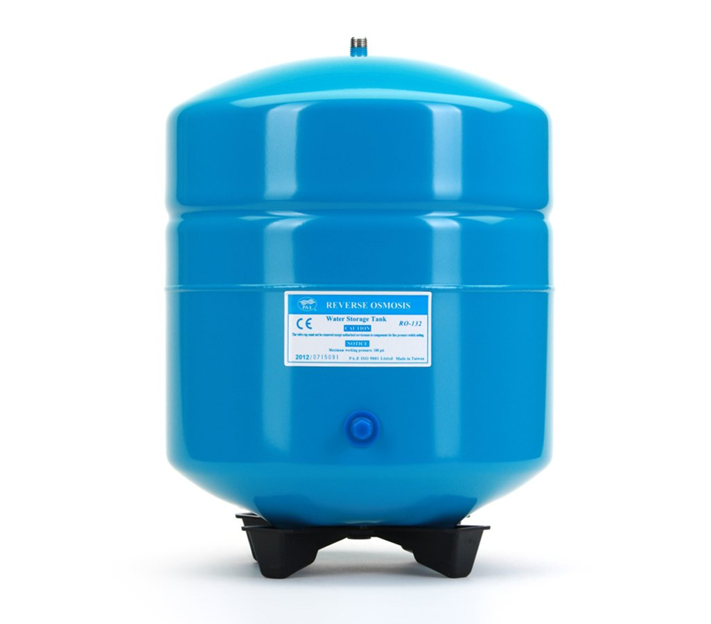Hydronix RO-132-B14 Stainless Steel 4.5 Gallon Reverse Osmosis Storage Water Tank - Blue, 1/4'' Port