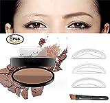 Image of Eyebrow Stamp Powder Stamper Waterproof Long-lasting Brown Easy Press Natural Shape in Seconds (Dark Brown+ Coffee)