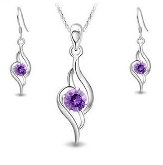 3 opinioni per Set di collana e orecchini in argento Sterling e ametiste