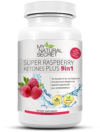 Super Raspberry Ketone Plus - Der MyNaturalSecret Bestseller Verbesserte 9in1 Formel mit 100% purem Himbeer Keton Pulver