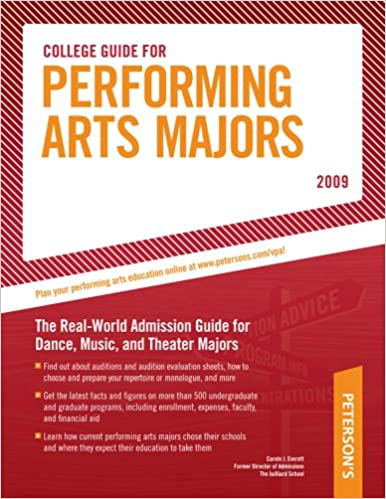 Book College Guide for Performing Arts Majors - 2009 (Peterson's College Guide for Performing Arts Majors)