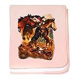 Royal Lion Baby Blanket Wild Horses - Petal Pink
