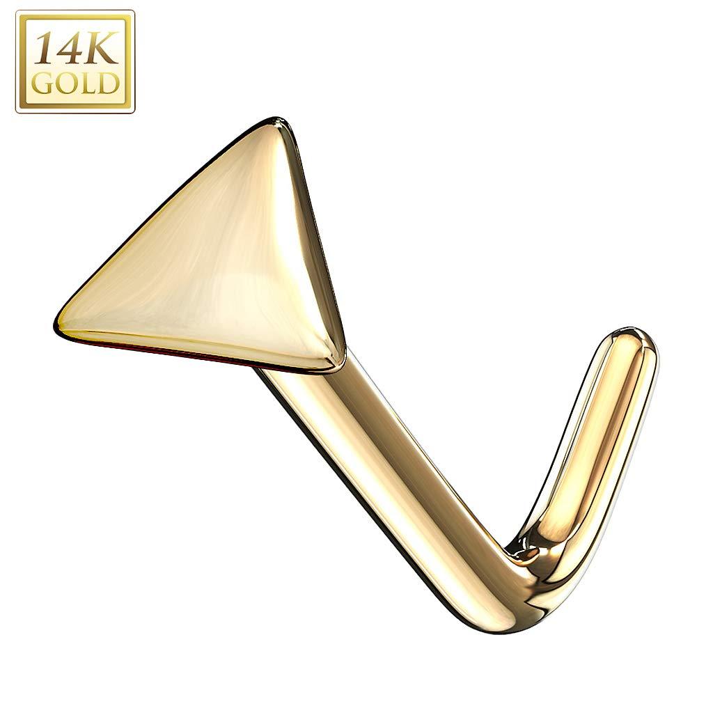 Nasenpiercing Echt 585 Gold 14 Karat Motiv Nasenstecker Nase Schmuck Piercing
