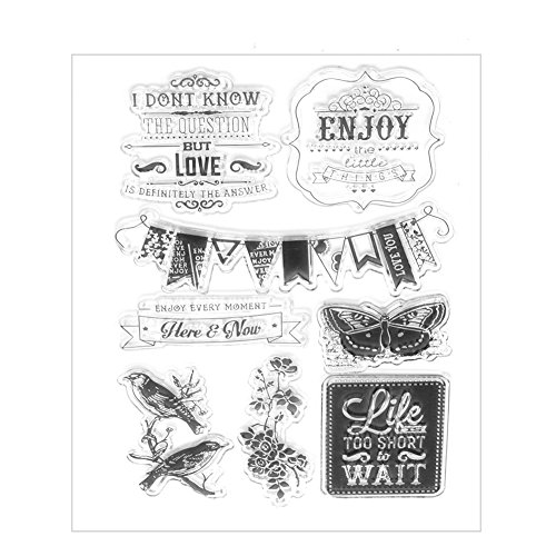 Hunulu Birds theme Transparent Clear Rubber Stamp Sheet Cling Scrapbooking - Rubber Clear Alphabet Stamp