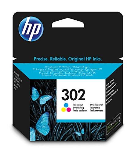 HP 302 - Tricolor com base de tinta - original - tinteiro - para Deskjet 11XX, 21XX, 36XX, Envy 45XX, Officejet 38XX, 46XX, 52XX