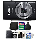 Canon IXUS 185 / ELPH 180 20MP Black Compact Digital Camera with 8GB Top Accessory Gift Set