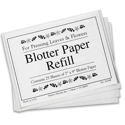 Blotter Paper Refill 7 In. X 9 In. Sheets (For Pressing Leaves & Flowers)