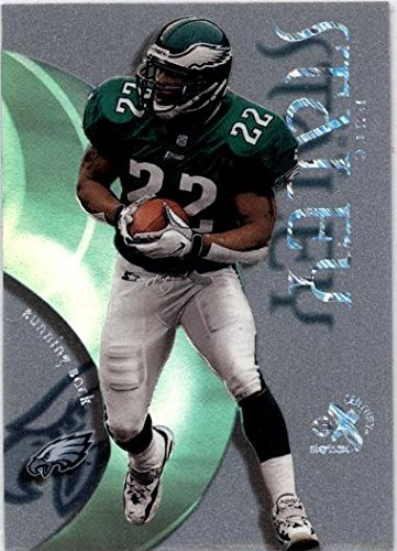 1999 E-X Century Essential Credentials Now #34 Duce Staley - Philadelphia Eagles (Serial #'d 34/34)(Limited Edition Football Insert Card)