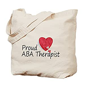 CafePress - Proud ABA Therapist - Natural Canvas Tote Bag, Cloth Shopping Bag