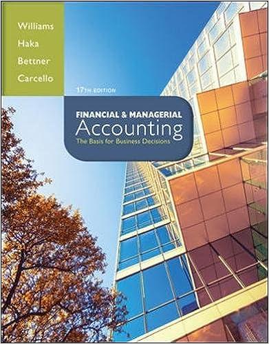 Financial & Managerial Accounting: Jan Williams, Susan Haka