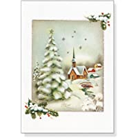 Deals on Vintage Winter Church Small Boxed Holiday Cards