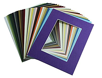 Amazoncom 100 8x10 Mat For 4x6 Photos Backing Bags Arts