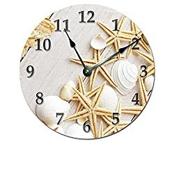 STARFISH AND SEA SHELLS CLOCK Extra Large 15.5 to 16 Wall Clock - Beachy Wall Clock