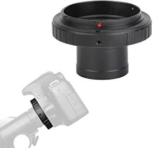 Black catyrre Aluminum T2 Adapter Telescope Extension Tube 1.25 Inch Telescope Mount Adapter Thread T-Ring Compatible With Sony//Minolta /Α Camera