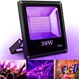 Outdoor Black Light, SOLMORE 30W 60LED UV Flood Light Party Light Waterproof Blacklight for Party Supplies DJ Disco Night Clubs Birthday Wedding Stage Lighting Glow in The Dark AC100-240V