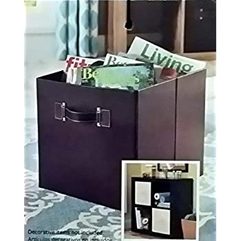 Better Homes And Gardens Collapsible Faux Leather Storage Cube Brown Home Kitchen