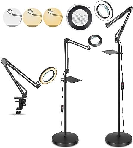5X LED Magnifying Glass Floor Lamp