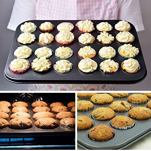 12/24 Cups DIY Baking Tools Non-stick Steel Cupcake Mold Egg Tart Baking Tray Dish Muffin Cake Mould Biscuit Pan Bakeware