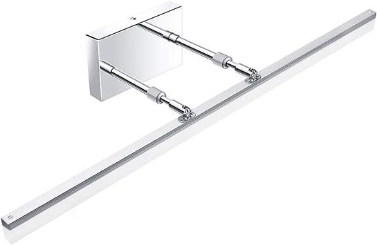 Aipsun 31 5 Inch Led Vanity Lights Adjustable Bathroom Vanity Light Fixtures Bathroom Lighting Fixture Over Mirror Chrome Modern Vanity Lighting 5500k Amazon Com