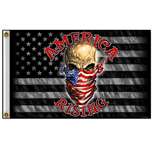 Officially Licensed Originals America Rising - Exclusive Original Artwork, Outdoor Biker Flag, 3' X ()