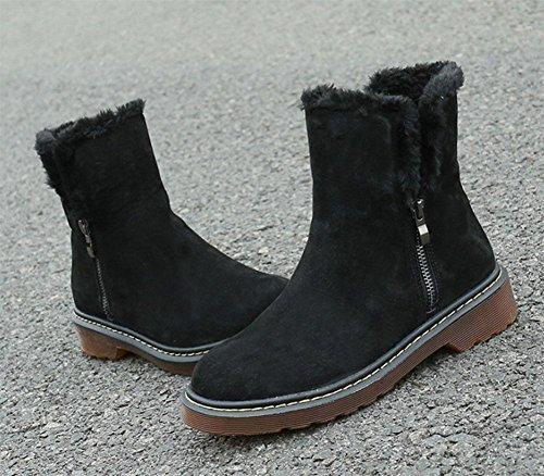 Martin botas moda botas engrosamiento algodón de Zapatos 001 de mujer salvaje tubo botas de mujer además de KUKI casual botas nieve vz0TYPwnqw