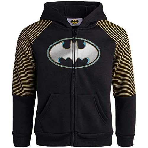 Toddler and Little Boy Boys 2-Piece Fleece Jogger Set with Zip-Up Hoodie Batman and Superman Warner Bros
