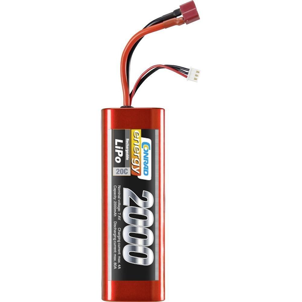 Conrad energy 7,4V 2000 MAH 20C ECO-LINE LIPO-AKKU