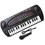 Hawkin Tobar Children's Musical Electronic Karaoke Keyboard 32 Keys with Microphone