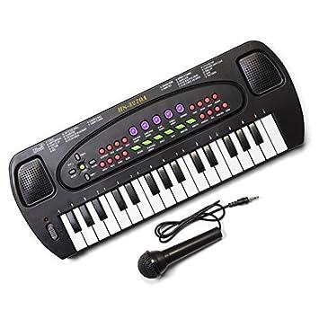 Tobar - Teclado electrónico con Karaoke y micrófono para niños (32 Teclas): Amazon.es: Juguetes y juegos