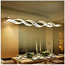 Joypeach 80W LED Pendant Light , Modern/Contemporary,Mini Style Metal Living Room,Bedroom,Dining Room,110V (Warm White)