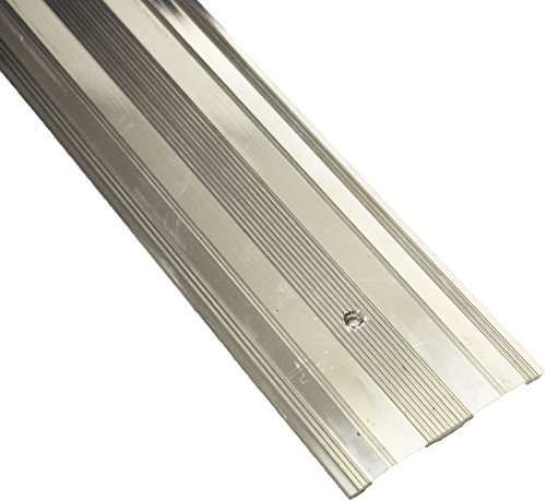 Carpet Metal Cover Trim Door BAR Grip Edging Threshold Brass/Silver (Extra Wide Cover, Silver)