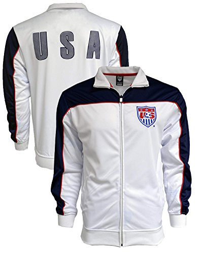 (USA Jacket, for Kids, Official Soccer USA Track Jacket White (Youth X-Large 13-15 Years))