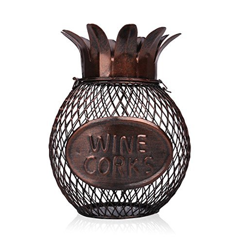 Tooarts Pineapple Wine Cork Container Handcrafts Art Work