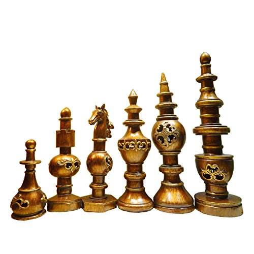 Living room crafts chess office Home Furnishing European style of the ancient wine accessories 6 pieces are sold together zj0119301 ( Color : Silver )