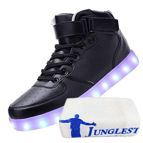 deportes Shoes calzado de luces c42 techo Presente 7 pequeña zapati Light de de hombre carga zapatillas para LED USB toalla intermitentes color JUNGLEST® ZqURwnq0AB