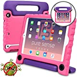 Pure Sense Buddy [Anti-Microbial Kids Case] Child Proof case for iPad Mini 3, iPad Mini 2, iPad Mini 1 | Rugged Cover, Stand, Handle, Shoulder Strap (Pink)