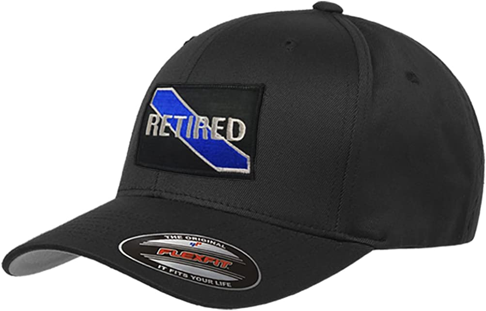 Thin Blue Line Flexfit Retired Hat TBL-Flex-RET-Black-MD