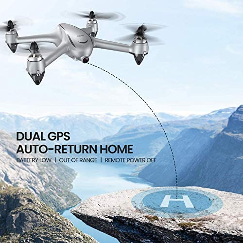 Potensic D80 GPS Drone with Camera for Adults, 2K FHD Camera, 2 Batteries 40 Mins Quadcopter with Brushless Motor, Auto Return Home, Follow Me, Long Control Range, Includes A Carrying Case-Sliver 51uO6MmobEL