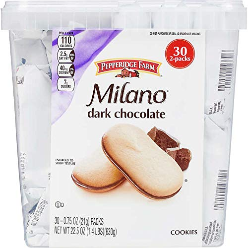 Pepperidge Farm Milano Cookies, Dark Chocolate: 30 Count (0.75 oz) by FCV