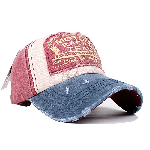 72994ac3a2f Vankerful Vintage Washed Denim Cotton Sports Baseball Cap for Women and Men