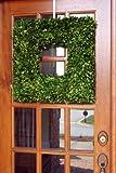 """Flora Decor Preserved Boxwood Wreath Square 22"""""""