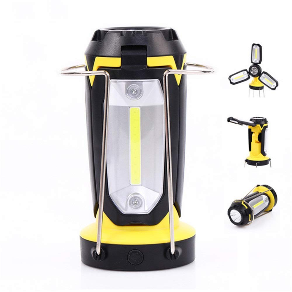 YsinoBear Multi-Purpose Camping Light, Tent Portable Light USB Rechargeable Flashlight Table Lamp Three-in-one Outdoor Outdoor Portable Lighting (Color : Yellow)