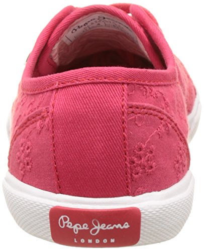 Pepe Jeans London Damen Aberlady Anglaise 17 Sneakers Rot (Colorado)