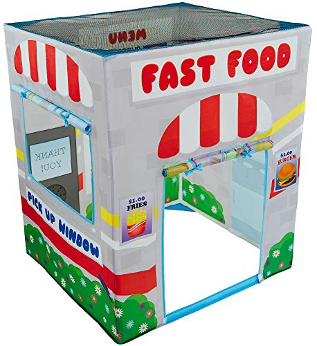 Fast Food Drive Thru Play Tent Playhouse for Kids