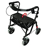 PCP Mobility & Homecare Black Folding Lightweight Rollator Walker