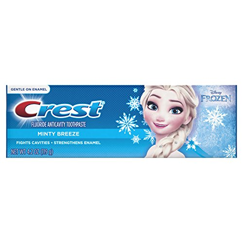 Crest Pro-Health Jr. Disney Frozen Characters Kids Minty Toothpaste, 4.2 oz (Pack of 2)