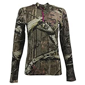 Icebreaker Women's Ika L/S Half Zip Shirt Mossy Oak Break-Up Infinity S