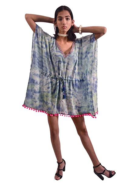 64fbe906d5 Cosynee Pure Cotton Kaftan Beachwear Dress Kimono Women's Coverup Boho Gift  for Her by Chilly Grapes at Amazon Women's Clothing store: